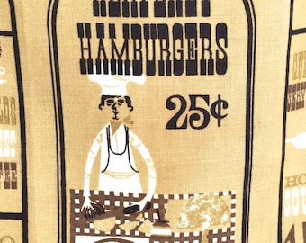 Vintage Kitchen Towel Heavenly Hamburgers Sewell Jackson