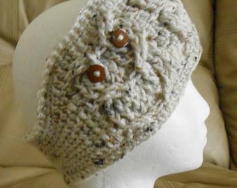 Hoot Owl Headband Ear Warmer