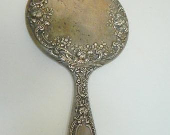 Antique Gorham Sterling Silver Hand Mirror Late 1800s Hallmarks