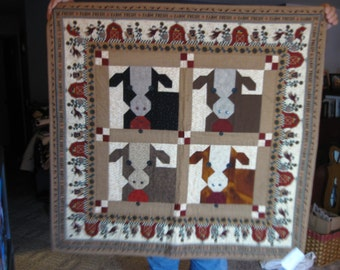 Quilted cow quilt