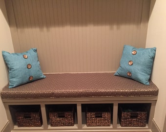 Custom Bench Cushion with Piping/Cording