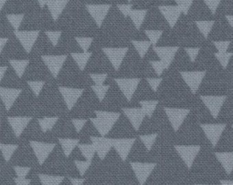 SALE  Grey Triangles from the Imogen collection by Alice Kennedy from Timeless Treasures    1 yard