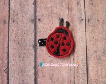 Hair Clip--Ladybug Felt Hair Clip