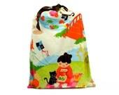 Planner Cover Pouch Drawstring Bag Japanese Garden Sushi Cat Cute Planner Bag Drawstring Pouch Handmade Bag Cover for Planner