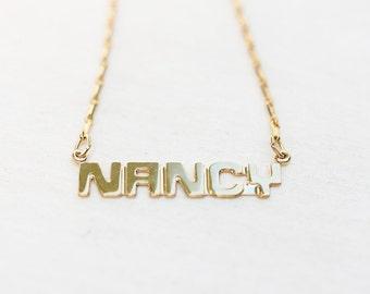 Name Necklace - Nancy