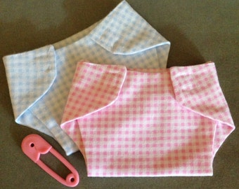Baby Doll flannel diapers