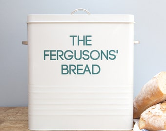 Personalised White Bread Bin