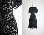 1930s velvet burnout dress