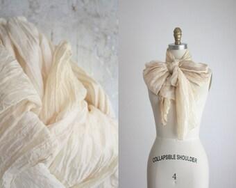 crinkle silk scarf