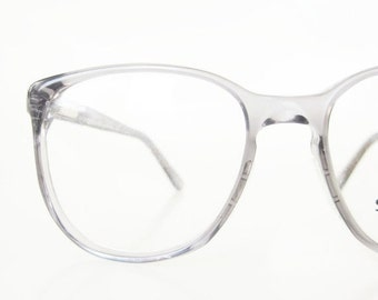 ON SALE 1980s Mens Wayfarer Eyeglasses Stetson Glasses Deadstock Light Grey Smoke USA American Made 80s Eighties Sunglasses Sunnies 80s