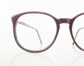 ON SALE Womens Oversized Wayfarer 1980s Dark Oxblood Red Eyeglasses Glasses Sunglasses 80s Indie Hipster Burgundy Dark Deadstock NOS New Old