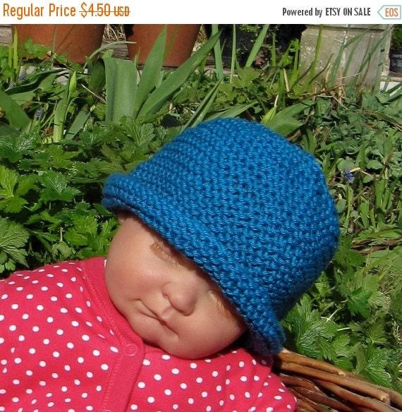 SALE 30% OFF Instant Digital pdf download knitting pattern madmonkeyknits Baby Simple Garter Stitch Roll Brim Beanie Hat pdf knitting patter