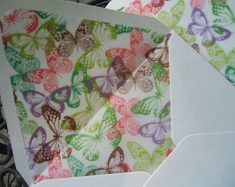 Butterflies Lined Envelopes
