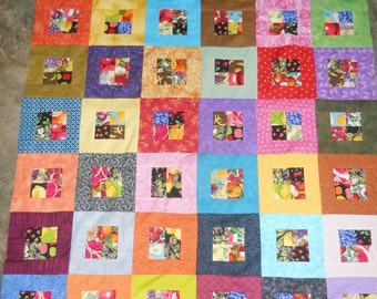 Colorful Fruit  - quilt top  (48 x 72)