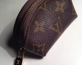 Louis Vuitton Logo Speedy LV Classic Brown Coin Pouch Purse