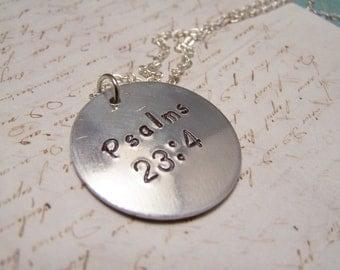 Psalms 23:4  Necklace. Bible Verse Necklace