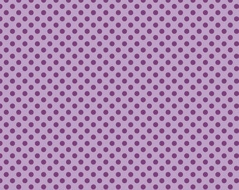Riley Blake Fabric Lavender Tone on Tone Small Dots Polka Dots, Choose your cut