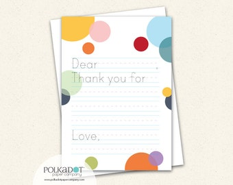Dashes and Dots Thank You Notes for Kids