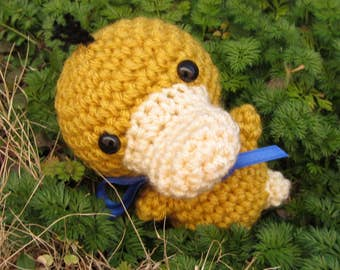 READY TO SHIP - Crochet - Chibi Pokemon Amigurumi - Psyduck. Pokemon Crochet. Pokemon Plush. Psyduck Plush. Cosplay prop. Pokemon Go. Anime.