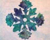 Hawaiian Snowflake Appliqued Quilt Block