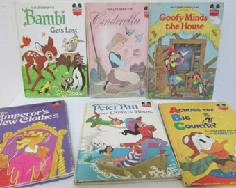 6 Children's Books Disney Classic from the 1970s,