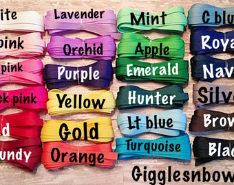 3/8 inch Solid Grosgrain Ribbon - Choose Color, Yardage - DIY Hair Bow Supplies, Ribbon for Bows, Grosgrain Ribbon by the Yard, Hair Ribbon