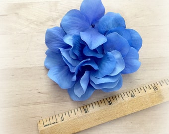Hydrangea Pin - Blue Hydrangea Brooch - Flower Fascinator - Forget me not Blue - Hair Accessory - Hat Accessory - Handmade in the USA