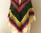 Candied Shawl, Simply Soft Warm Colorful Rainbow Shawl