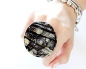 Ceramic ring, Unique ring, Statement Ring - fashion ring, boho ring, adjustable ring, gift for her, handmade ring,  Australian Art