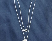 Vintage Sterling Silver Chain and Pill Box Pendant Necklace - FANCIFUL