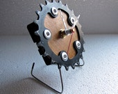 Recycled Sugino Bike Chainring Desk Clock