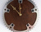 Recycled Vintage Bicycle Chainring Wall Clock