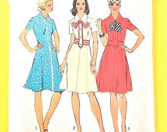 1970s Women's Misses' Petite Princess Dress Vintage Sewing Pattern Bust 31.5 inches Petite