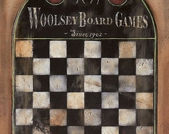 Game Board Wall Decor,Vintage Game Board,12x18,SALE,Family That Plays Together,Pam Britton