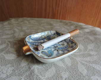Fake Cigarette Vintage Lefton China Ashtray Fun Theatrical Prop Gag April Fools Prank