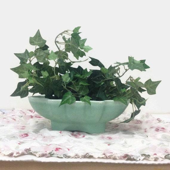 California Pottery Planter - Mint Green - Ceramic - USA 602 - Collectible