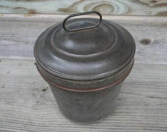 Very Nice Vintage German Tin Pudding Mold