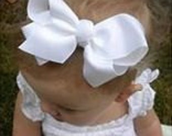 Boutique Hair Bows - 4 Inch Hairbows - Lot of 6 Bows - Medium Girls Bows - Wholesale Hairbows - Baby Bows - Choose from over 100 colors