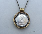 SRI LANKA - One of a Kind 1878 Hungarian Krajczar Coin Necklace - Reversible