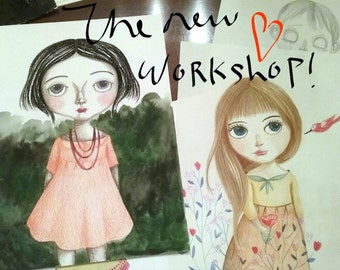 The beauty of sketching Blythe and other dolls in a minimalist style workshop