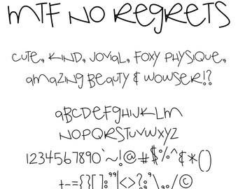 MTF No Regrets Font