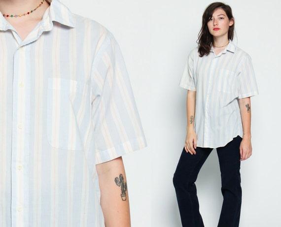 Dior shirt 80s button up shirt striped christian dior grunge for Christian dior button up shirt