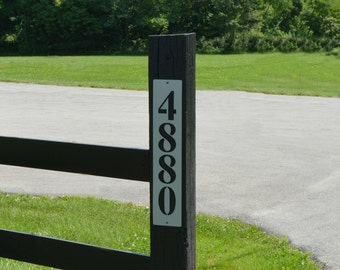 Metal Address Plaque Vertical - Free USA Shipping