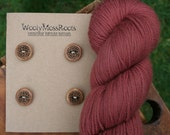 4 Wood Celtic Buttons- Maple Wood- Wooden Buttons- Eco Craft Supplies, Eco Knitting Supplies, Eco Sewing Supplies