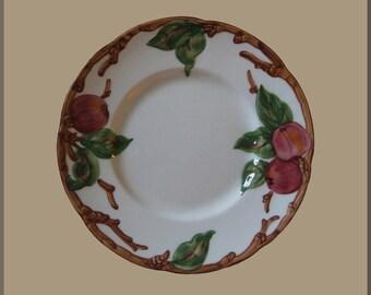 SALE! 6 - Vintage FRANCISCAN APPLE Salad Plates (American-Cream Color) Pristine Condition!