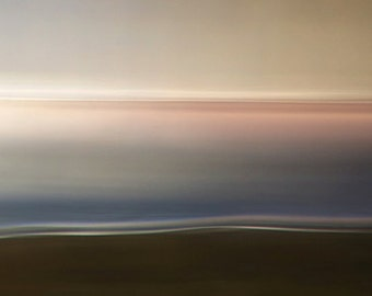 Inner Calm IV, zen photo, minimalist photo, abstract landscape, ready to hang canvas, oversized wall art, blue, gallery wrap canvas, pink