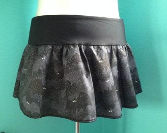 Glitter Bat Mini Skirt