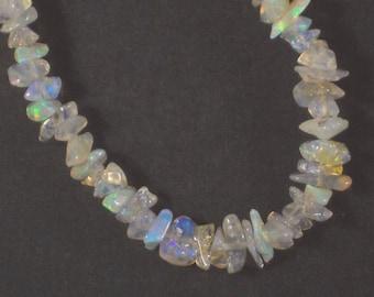 Australian Boulder Opal Chip Beads Cream Golden Nuggets (9111)
