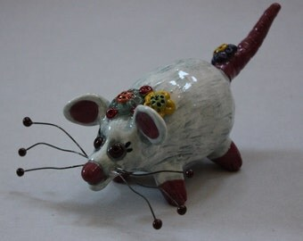 "Rat Sculpture ""Stumpy the Rat"" - Custom Pieces Available Upon Request"