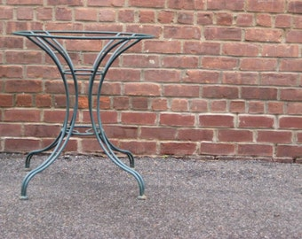 Vintage Green Iron Patio Table * Cafe Table * Table Base * Modern RETRO